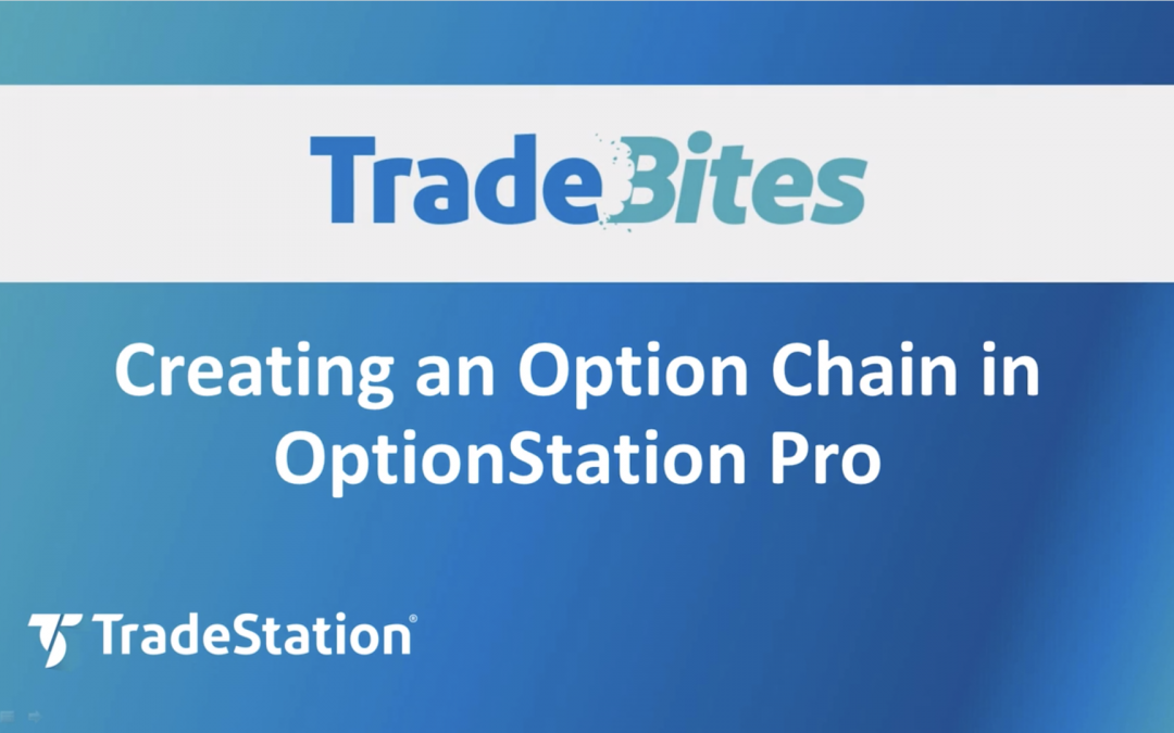 Creating an Option Chain in OptionStation Pro