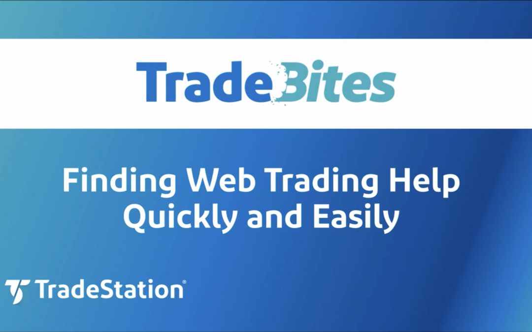 Finding Web Trading Help