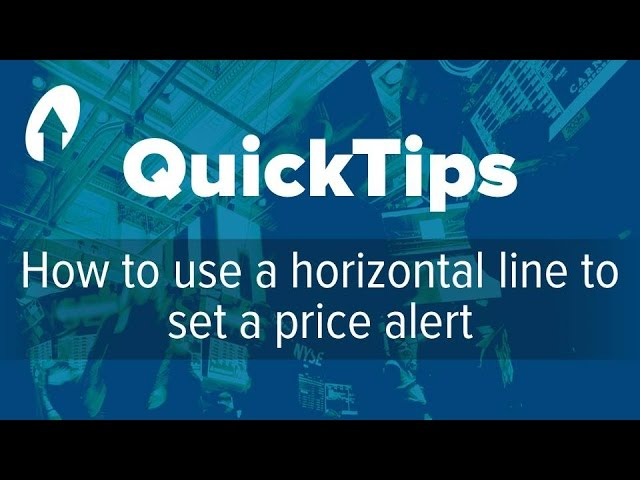 How to use a horizontal line to set a price alert