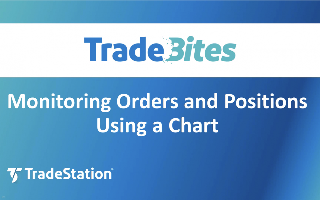 Monitoring Orders and Positions Using a Chart