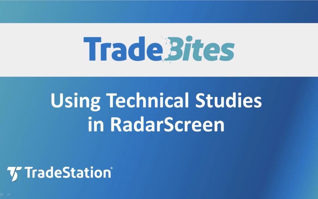Technical Studies in RadarScreen