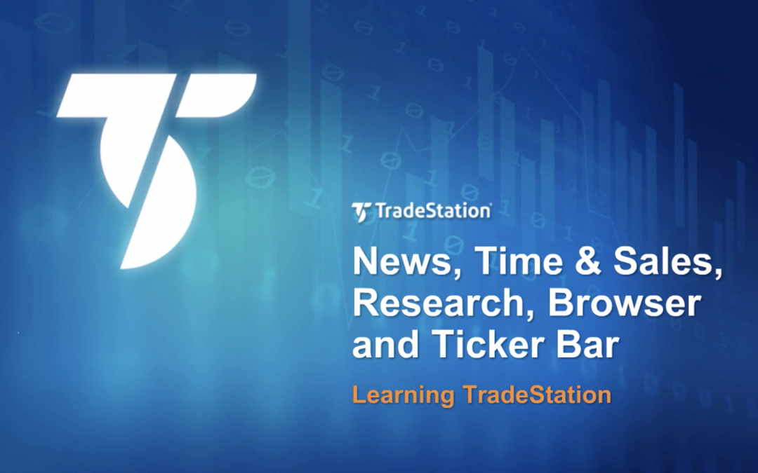 Time & Sales, Fundamentals and Ticker Bar