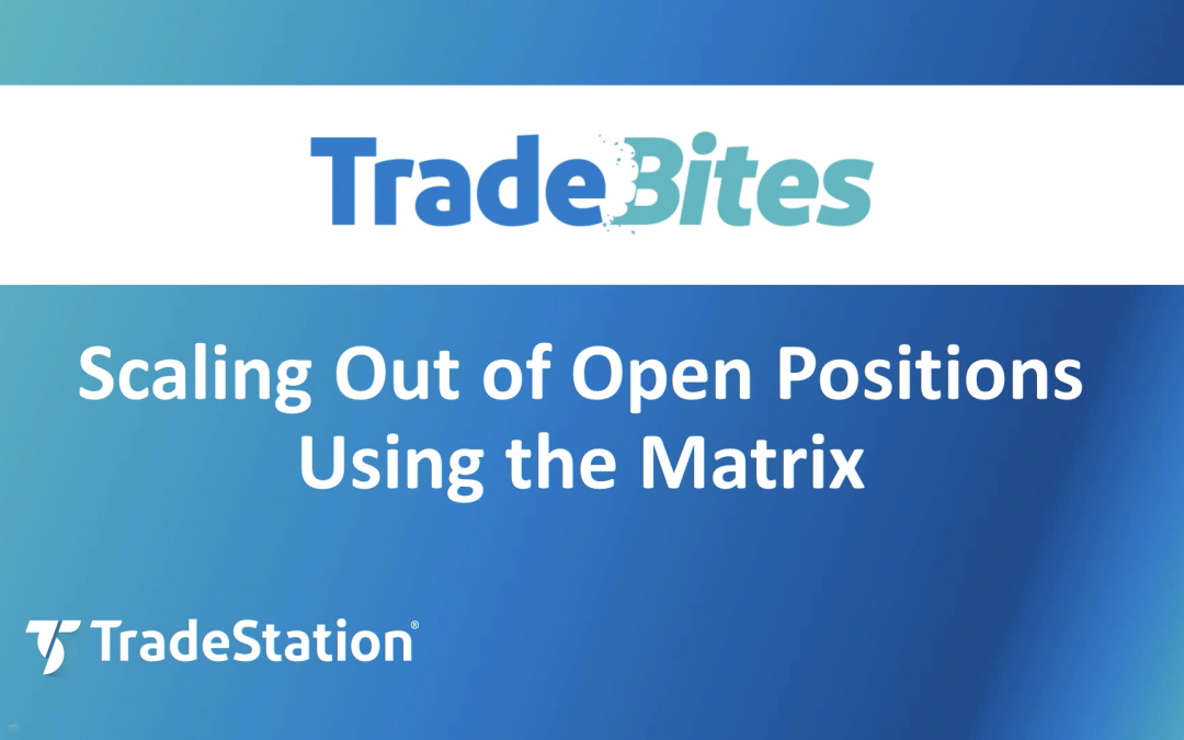 Scaling Out of Open Positions in the Matrix