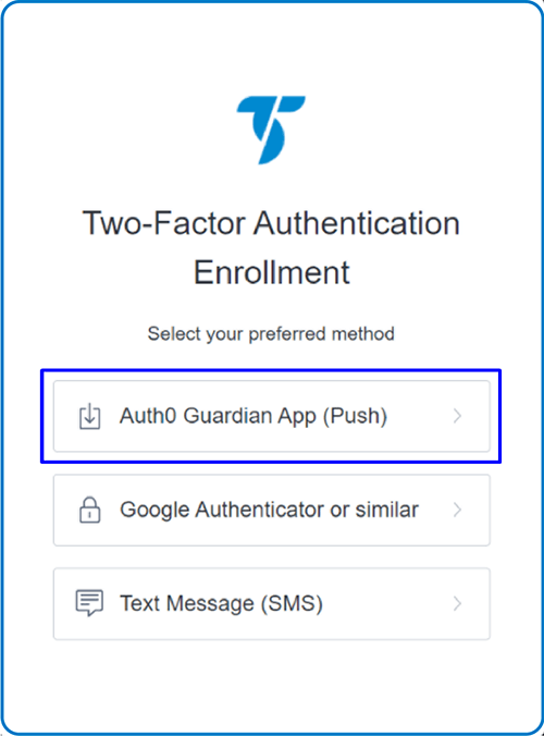 Two factor Autentication Enrollment