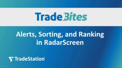 Alerts Sorting and Ranking in RadarScreen