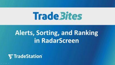 Alerts Sorting and Ranking in RadarScreen