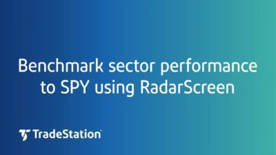 Benchmark Sector Performance to SPY using RadarScreen