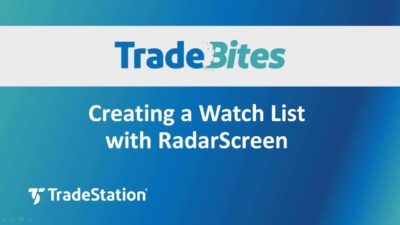 Creating a Watch list with RadarScreen