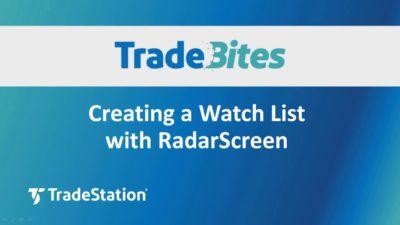 Creating a Watch list with RadarScreen