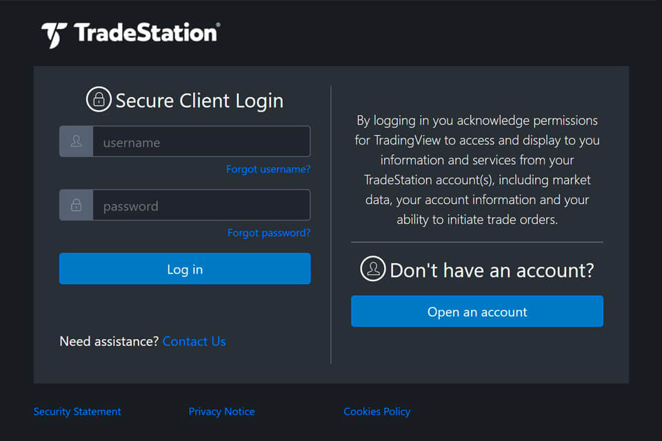TradeStation Screenshot
