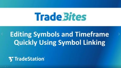 Editing Symbols and Timeframe Quickly Using Symbol Linking