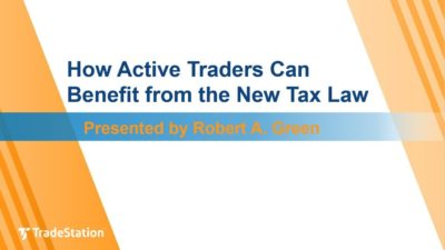 How Active Traders Can Benefit from the New Tax Law