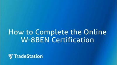 How to Complete the Online W-8BEN Certification