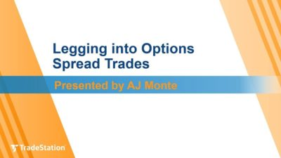 """Legging into Options Spread Trades"" with AJ Monte"