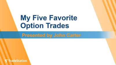 """My Five Favorite Option Trades"" with John Carter"
