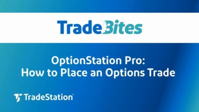 Placing a Trade with OptionStation Pro