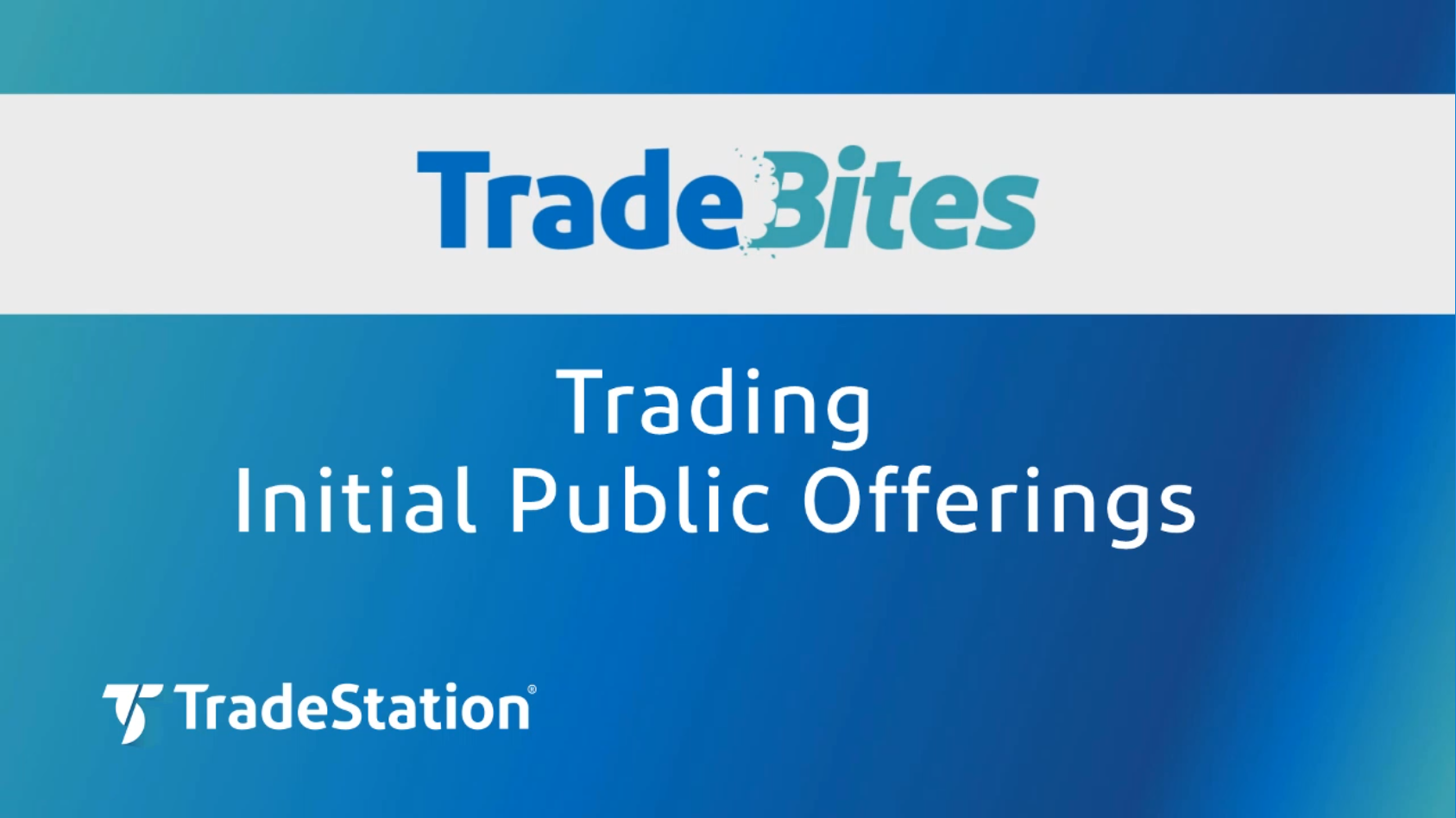Trading Initial Public Offerings