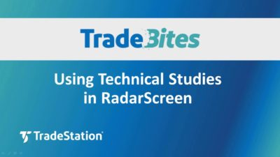 Using Technical Studies in RadarScreen